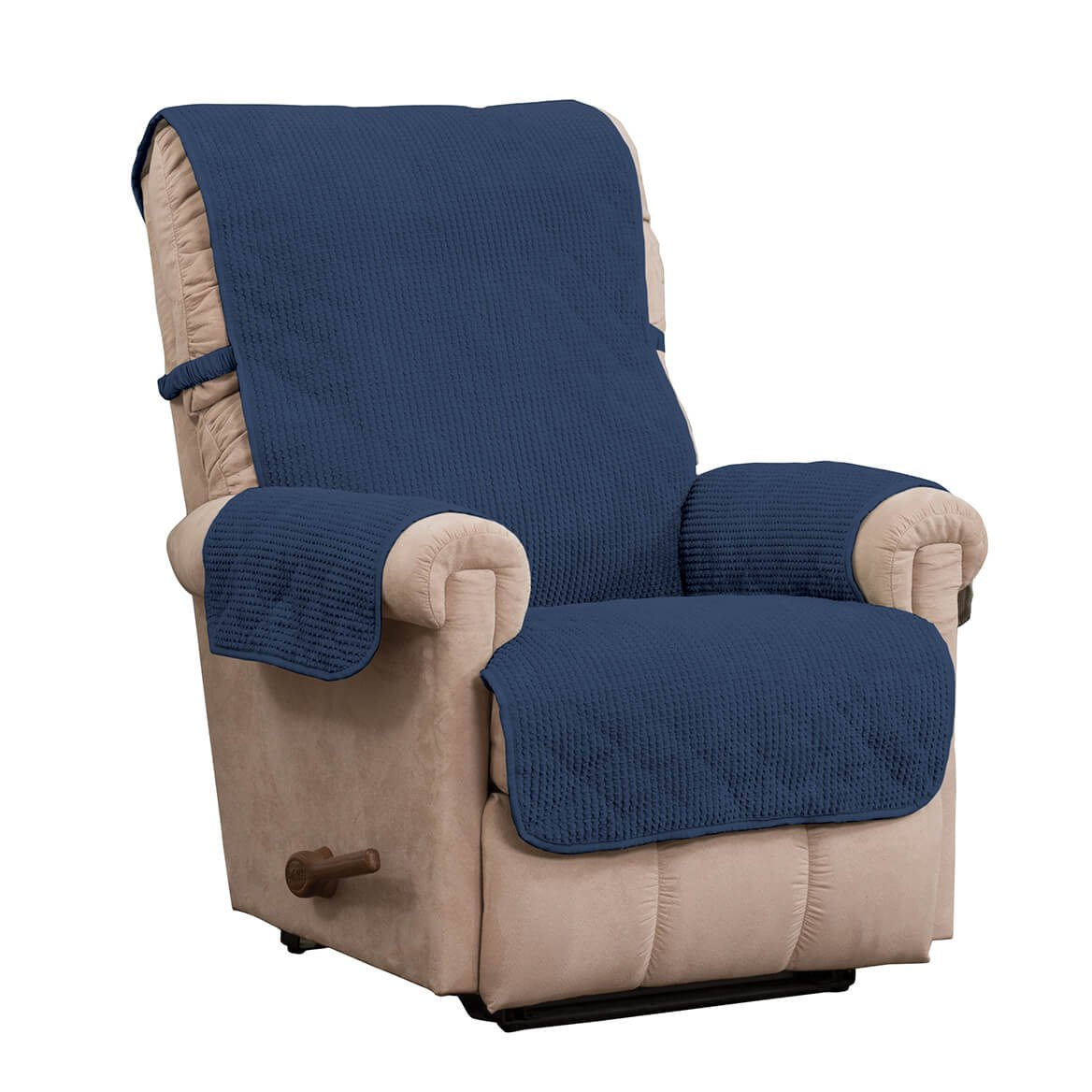 Miles Kimball Ripple Plush Recliner Protector
