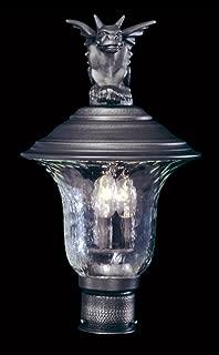 product image for Framburg 8506 IRON 3-Light Carcassonne Exterior Post Mount, Iron
