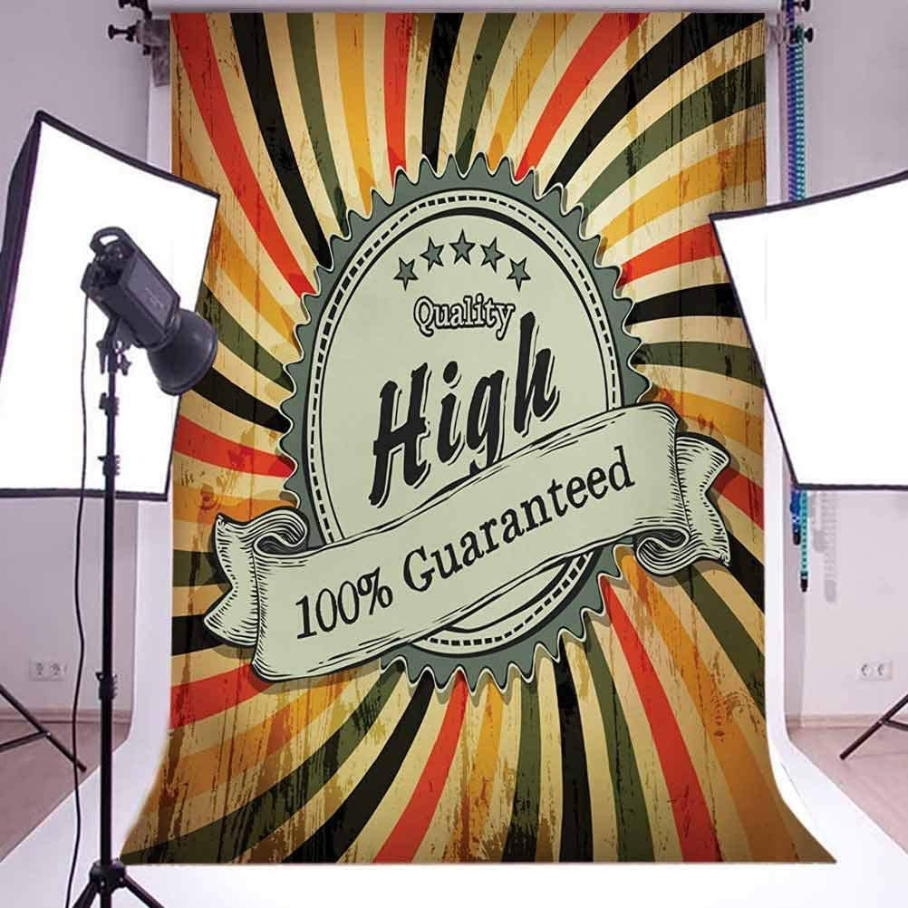 6.5x10 FT Photography Backdrop Retro Style Sign with Spiral Colorful Lines on Grunge Worn Out Background Background for Baby Shower Birthday Wedding Bridal Shower Party Decoration Photo Studio