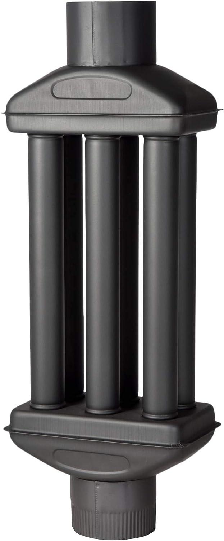 acerto 30219 Intercambiador de calor de gases de escape 150x900mm - negro * Ahorro de energía * Fácil limpieza * Fácil instalación | Intercambiador de aire caliente refrigerador de gases de escape