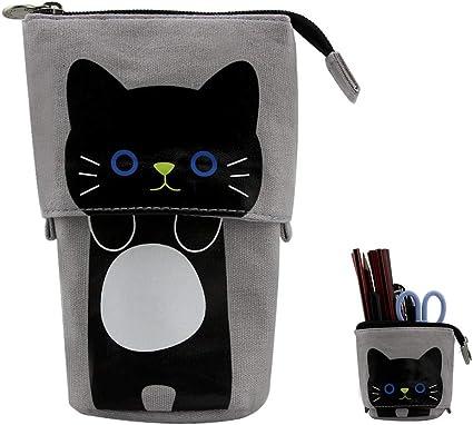 Sacs à crayons télescopiques Hillento, porte crayons, étui à crayons pour chat, étui à crayons télescopique, petit sac à cosmétiques avec fermeture à