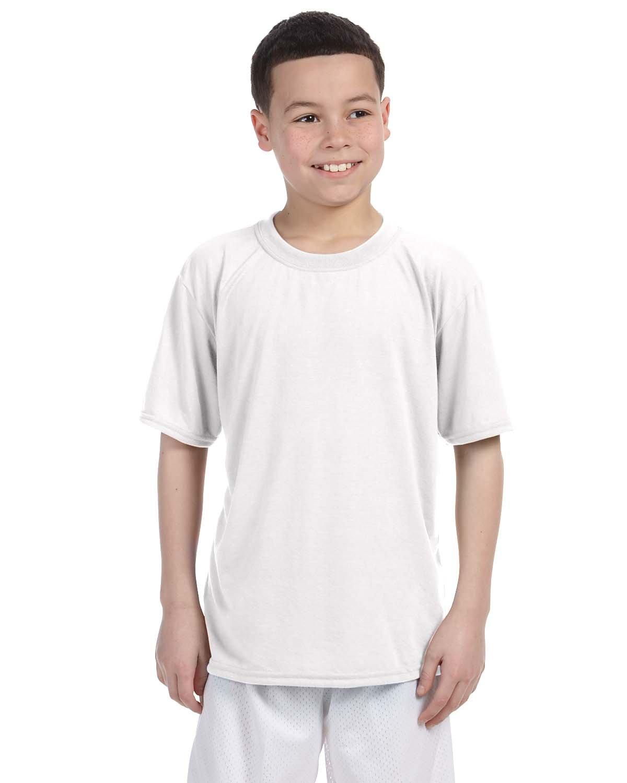 Gildan Boys Performance T-Shirt (G420B) -WHITE -XS-12PK