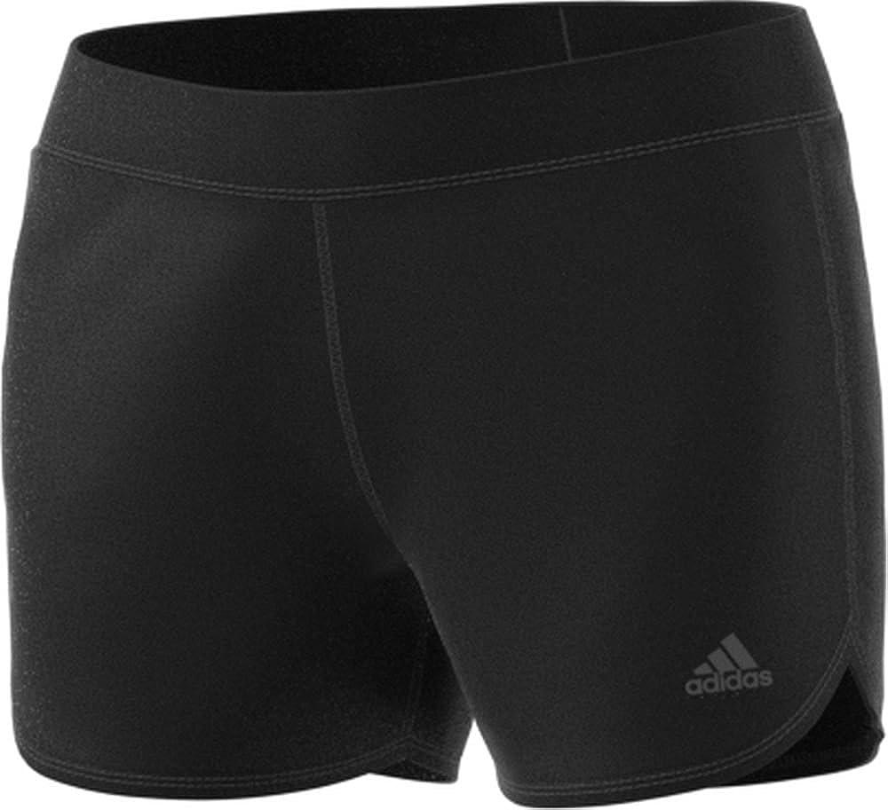 S adidas Damen Climachill Shorts Chill Black Melange