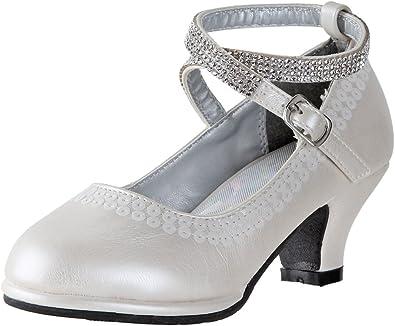 Toddler Girl//Little Girl//Big Girl Angel Girls Patent Ankle Strap Buckle Dress Shoes