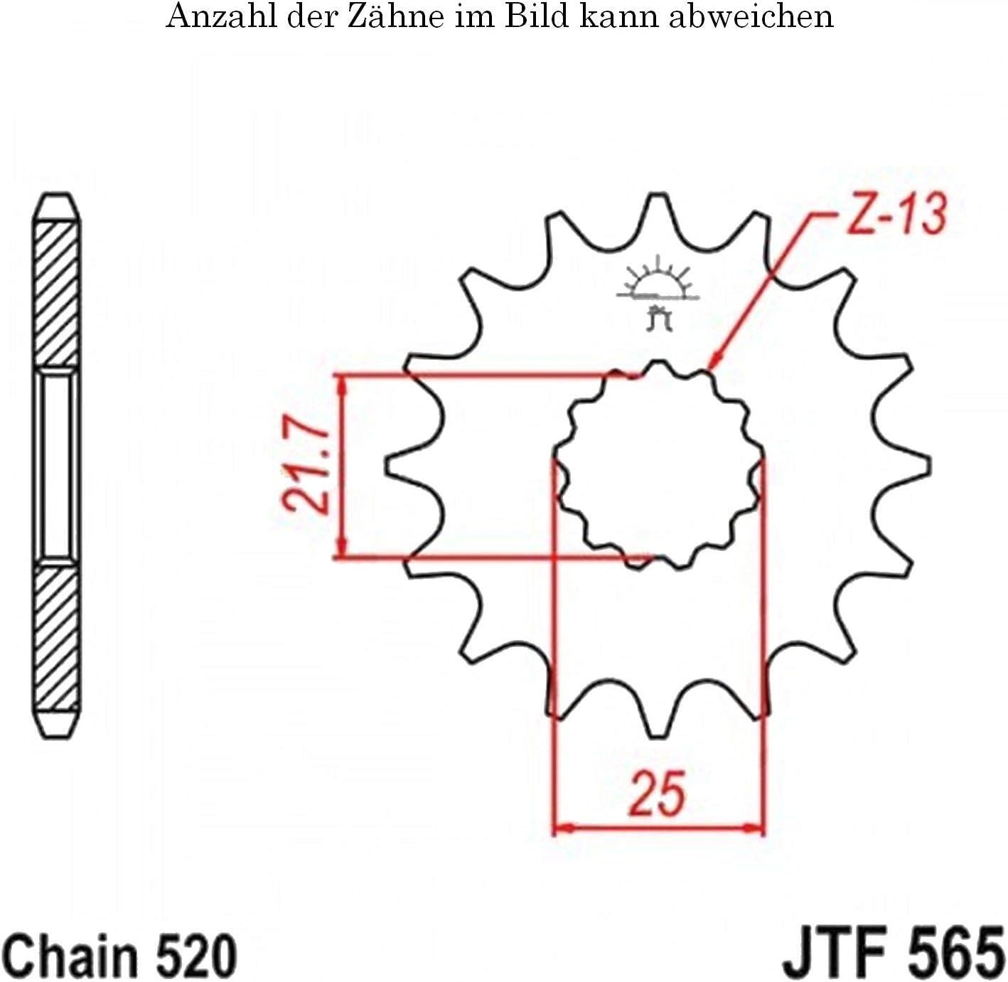 Ritzel 15 Z/ähne f/ür GS 500 E Baujahr 1989-1993 von jtSprockets