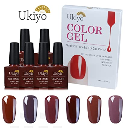 Gel de uñas esmalte de uñas Set marrón tonos LED UV Soak Off Gel Polish por