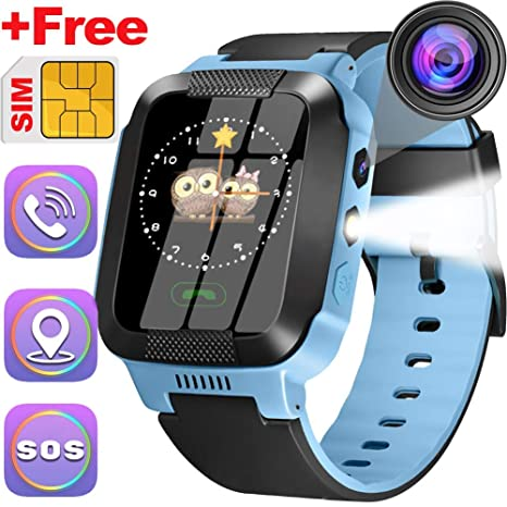 Kids Phone Watch Best GPS Tracker 3-12 Year Old Boys Girls Touchscreen Kids Smart Watch Childrens Sports Smart Wrist With SIM Card Digital Camera ...