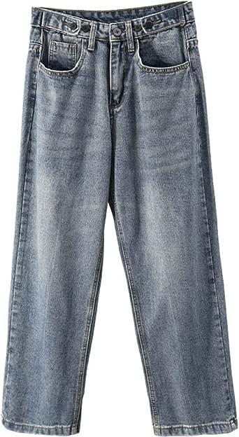 Jeans de Mujer, Pantalones Anchos Sueltos de Cintura Alta ...