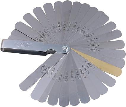 Sharplace Juego de Galga de Espesores de Acero Inoxidable Medidores de Espesor Plegables Herramientas