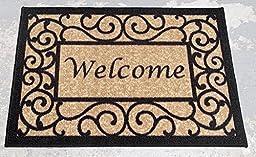 Ottomanson Ottohome Collection Rectangular Welcome Doormat (Machine-Washable/Non-Slip), Beige, 20\