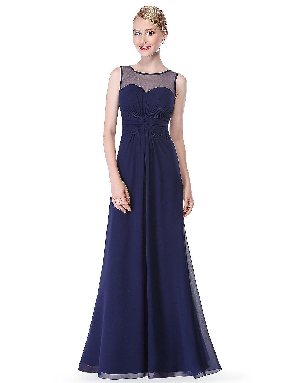 Ever-Pretty Vestido de Dama de Honor de Gasa Larga con Cintura Imperio de Mujer 08761