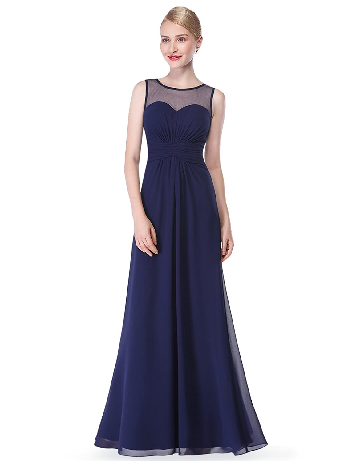 Ever Pretty Damen Elegant Lang Abendkleid Brautjungfernkleid ...