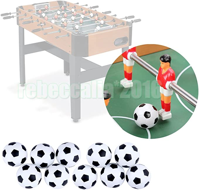 emotree 10 x 31 mm Mini Fútbol pelotas de fútbol de mesa para ...
