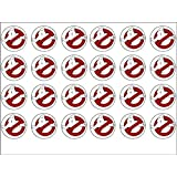 24 Ghostbusters Edible Wafer Paper Cup Cake Toppers by CakeThat
