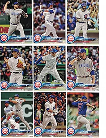 lowest price ee9e3 5b202 Chicago Cubs/Complete 2018 Topps Series 1 & 2 Baseball 25 ...