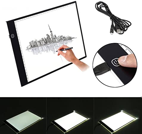 A3 LED Drawing Copy Board Tracing Light Box Ultra-thin Pad Use For Art Sketch UK