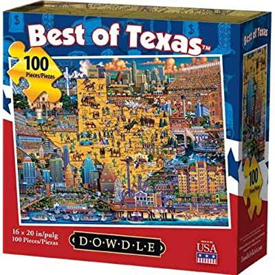 Dowdle Jigsaw Puzzle - Best of Texas - 100 Piece: Toys & Games