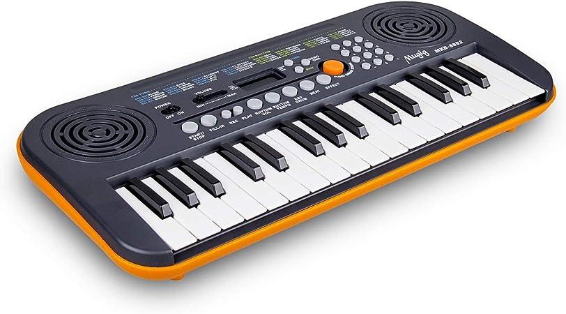 Mugig 32 Teclado Mini Piano para principiantes y niños USB portátil Piano perfecto para viajes, camping, fiestas al aire libre