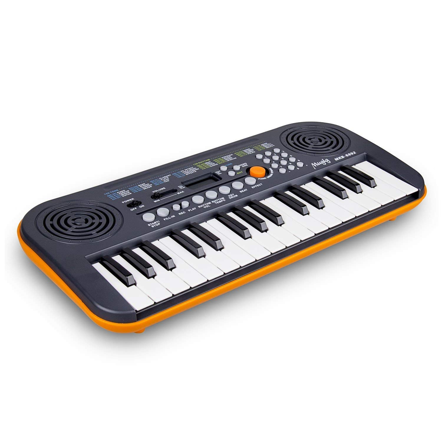 Mugig 32 Key Mini Keyboard Piano for Beginners and Kids USB Portable Piano Perfect for Travel, Camping, Outdoor Party MKB-01