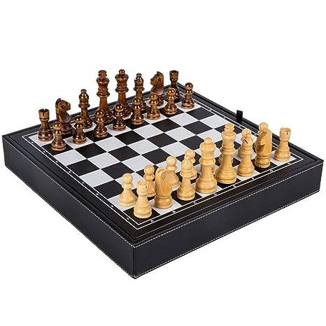 Juego de Ajedrez Mesa de Cuero Ajedrez Juegos de ajedrez Chinos ...