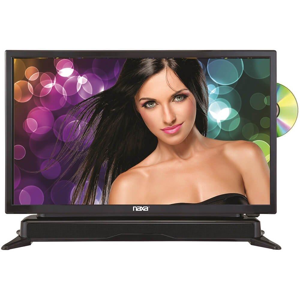 NAXA Electronics NTD-2460 24-inch 720p HD Class LED TV with Built-in Sound Bar & DVD Player, Black by Naxa Electronics