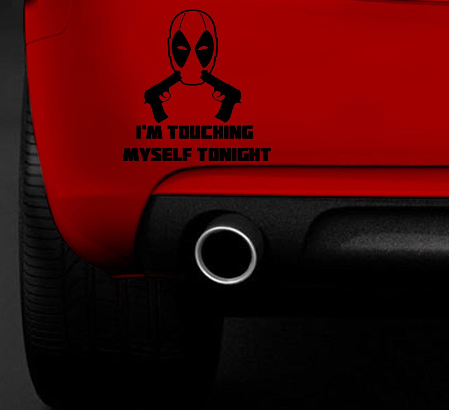 Deadpool car bumper sticker
