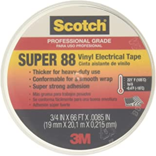 "product image for Scotch Super 88 Electrical Tape, 3/4"" x 66' x 0.0085"", 10 per Case"