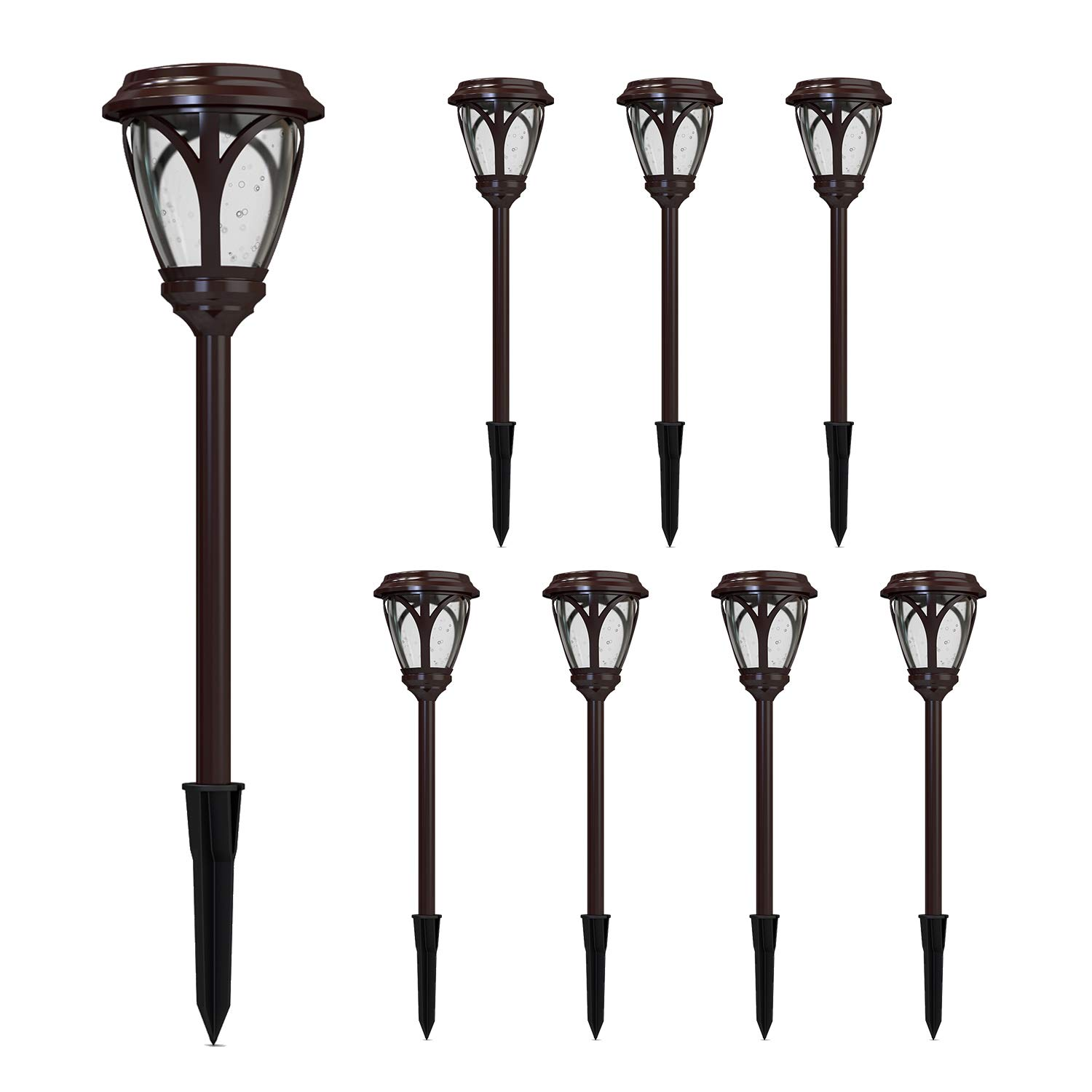 Malibu Kristi Collection LED 0.8W Low Voltage Outdoor Garden Light Landscape Lights Pathway Light for Lawn, Patio, Yard, Walkway, Driveway 8PK 8422-3103-08