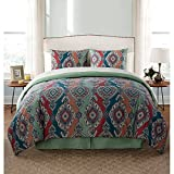 new york bed in a bag - VCNY Home Normandy 6/8-Piece Multi-Color Medallion Comforter and Sheet Set #55169348 (Twin)