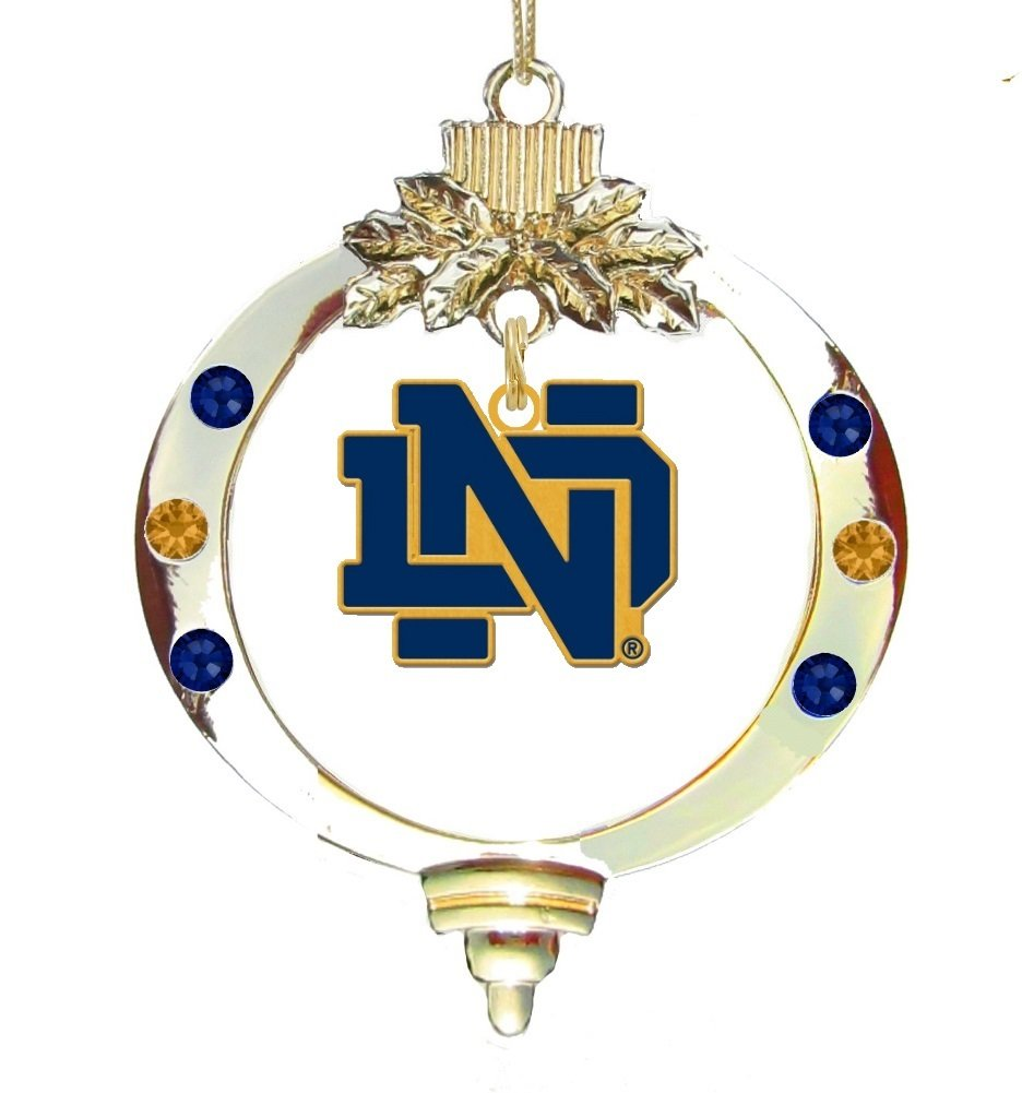 Amazon.com : Notre Dame Gold ND Ornament : Sports & Outdoors