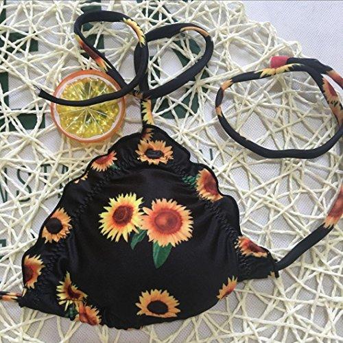 Abbigliamento E Sexy bagno Girocollo Culotte Stampa Pezzi Bikini Set Nuovi Costume Scarpe Nero Brasiliano Piscina Costumi da Due Accessori Donna Da OHQ Slip Tanga Mare Bagno Costume Tankini RxtwUq