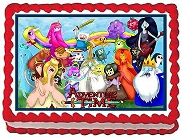Amazon De Adventure Time Kuchen Topper Essbar Mattierungen Tabelle