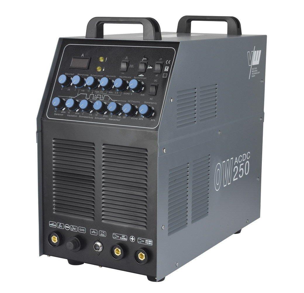 Sudor dispositivo AC/DC Wig ow250 Pulso M. Plasma aluminio Inverter TIG MMA Set (DC Wig, TIG/Pulso/AC Wig aluminio/MMA Arc/Plasma Cut/5 en 1): Amazon.es: ...