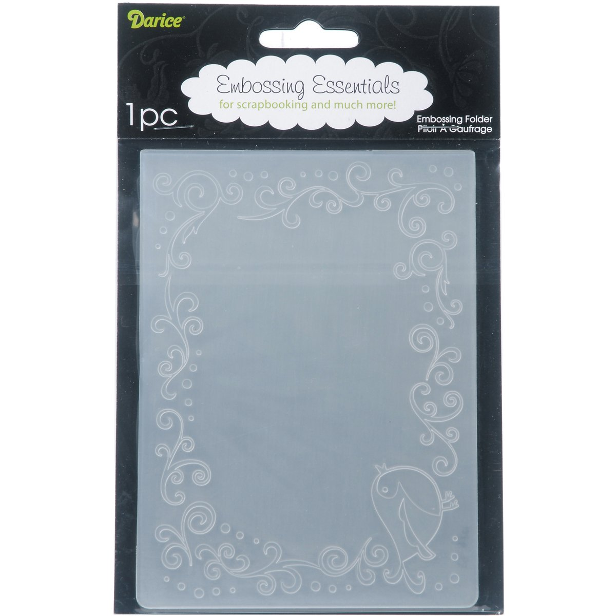 Darice 1216-63 Bird Border Embossing Folder, 4.25 by 5.75-Inch