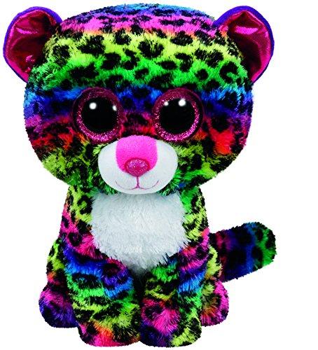 Carletto Ty 37189 - Dotty, Leopard mit Glitzeraugen, Glubschis, Beanie Boos, 15 cm, bunt