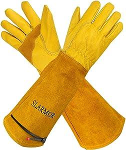 Long Gardening-Gloves Women/Men-Thorn proof Rose Pruning Heavy Duty Gauntlet-XS