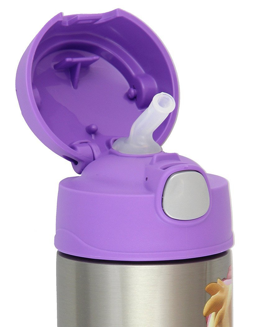 12 Ounces Thermos FUNtainer Wonder Woman Bottle With Straw Pink