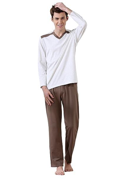 Dolamen Pijamas para Hombre, Pijamas Hombre Invierno, Hombre Camisones Pijamas de Parejas, 100