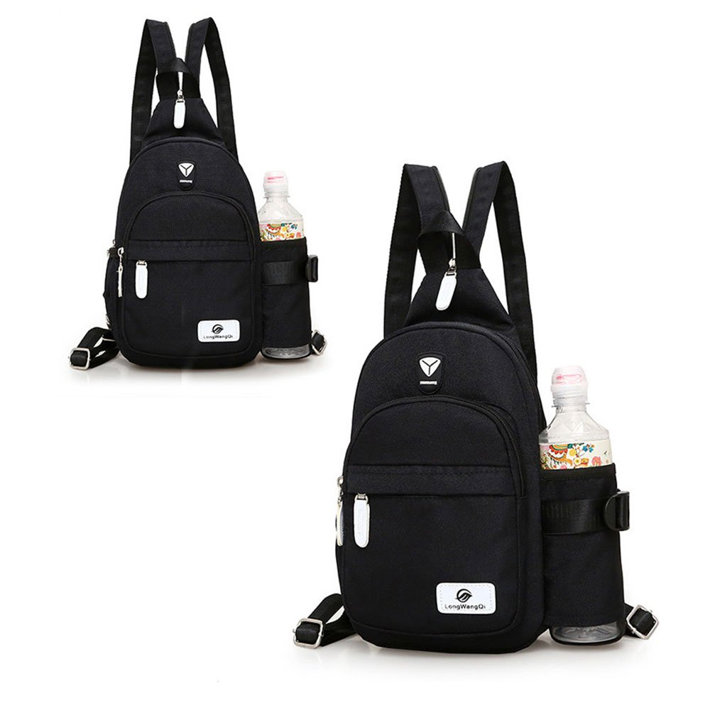 7b79849fb6 Amazon.com: Waterproof Shoulder Backpack Sling Chest Backpack Small  Crossbody Bag for Men Women Small DayPack with Water Bottle Holder Hiking  Travel Outdoor ...