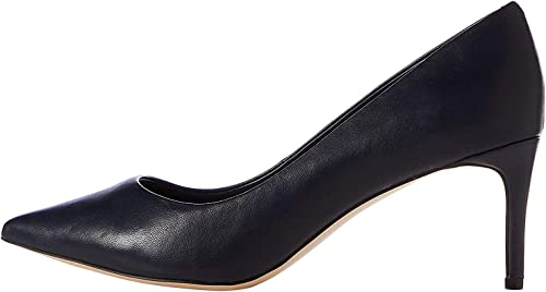 find. Point Mid Heel Leather Court Scarpe con Tacco, Donna