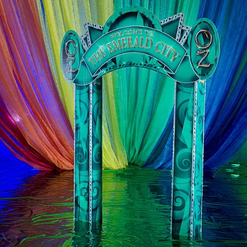 9 ft. 6 in. Oz Entrance Emerald City Standup Photo Booth Prop Background Backdrop Party Decoration Decor Scene Setter Cardboard Cutout]()