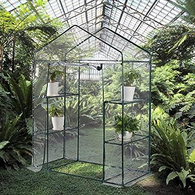PVC Waterproof Transparent Cover,Portable Garden with Zipper Opening Indoor//Outdoor Aoxun Walk-in Greenhouse