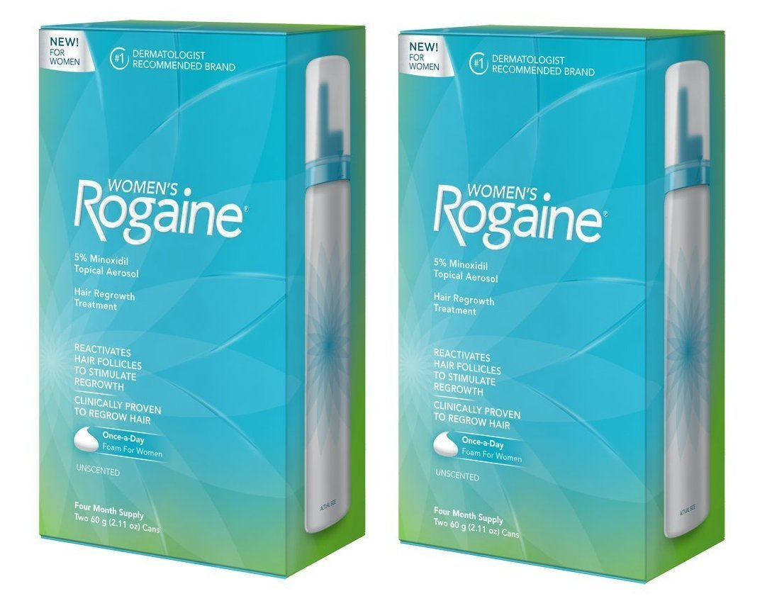 2 Pack of Women's Rogaine Foam Hair Regrowth Treatment, 4 Month Supply, 4.22 Ounce