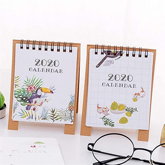 Amazon.com : Calendars Hand Drawing 2020 Fresh Cartoon Mini ...