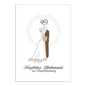 Gluckwunschkarte Zur Hochzeit Motiv Ehepaar Vintage Edel Mit