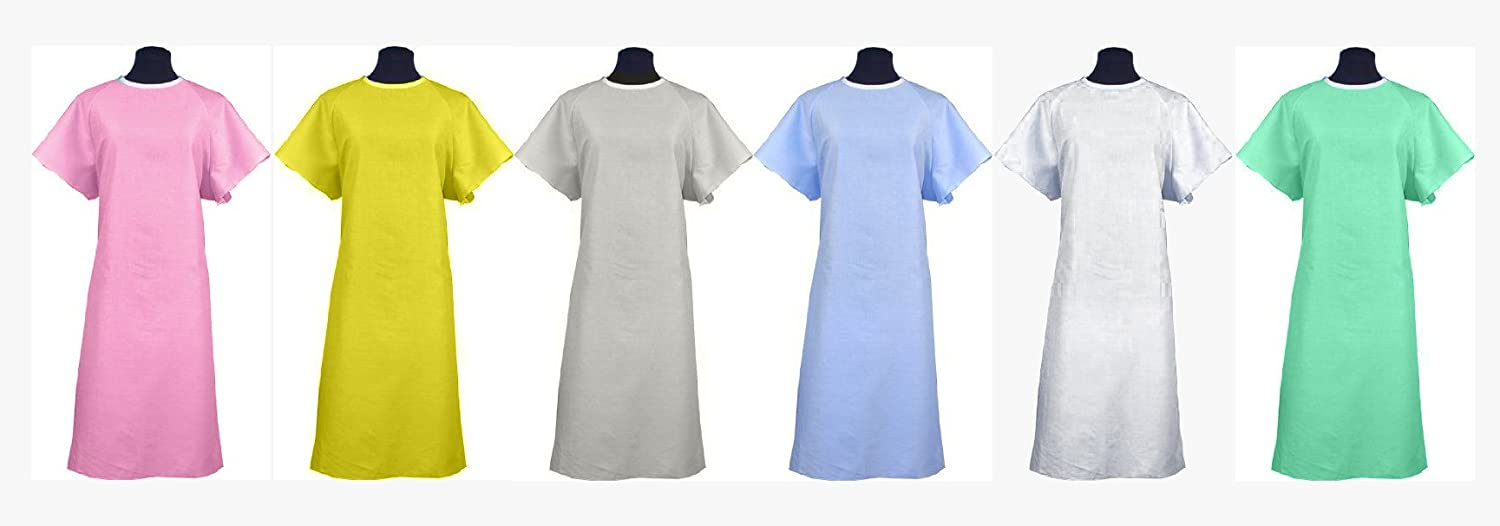 Amazon.com: Classic Patient Medical Hospital Gown / Johnny Hospital ...