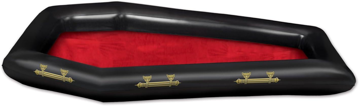"Beistle 00044 Inflatable Coffin Buffet Cooler, 22"" Width x 4' 6"" Length"