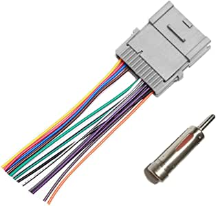 Car Stereo Radio Wiring Harness for Chevrolet 2003 2005 Silverado 2003-2006 SSR 2002-2004 S10 Pickup 2003-2006 Tahoe 2005-2009 Trailblazer 2000-2008 Uplander 2000-2005 Venture Van