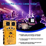 12-Plug Pro Audio Cable Tester - 12-in-1 Line