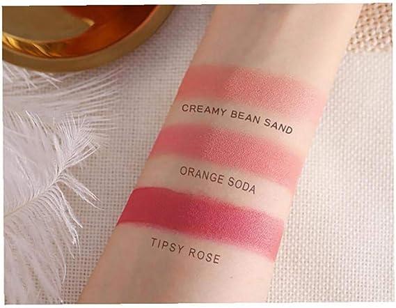 Altamente pigmentadas de la piel y Polvos Brillo Natural Blush brilla cosmético seguro Ingredientes mejilla Blush fácil de mezclar maquillaje Blush ...